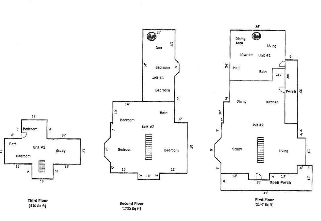 41 Vernon St. Floor Plans
