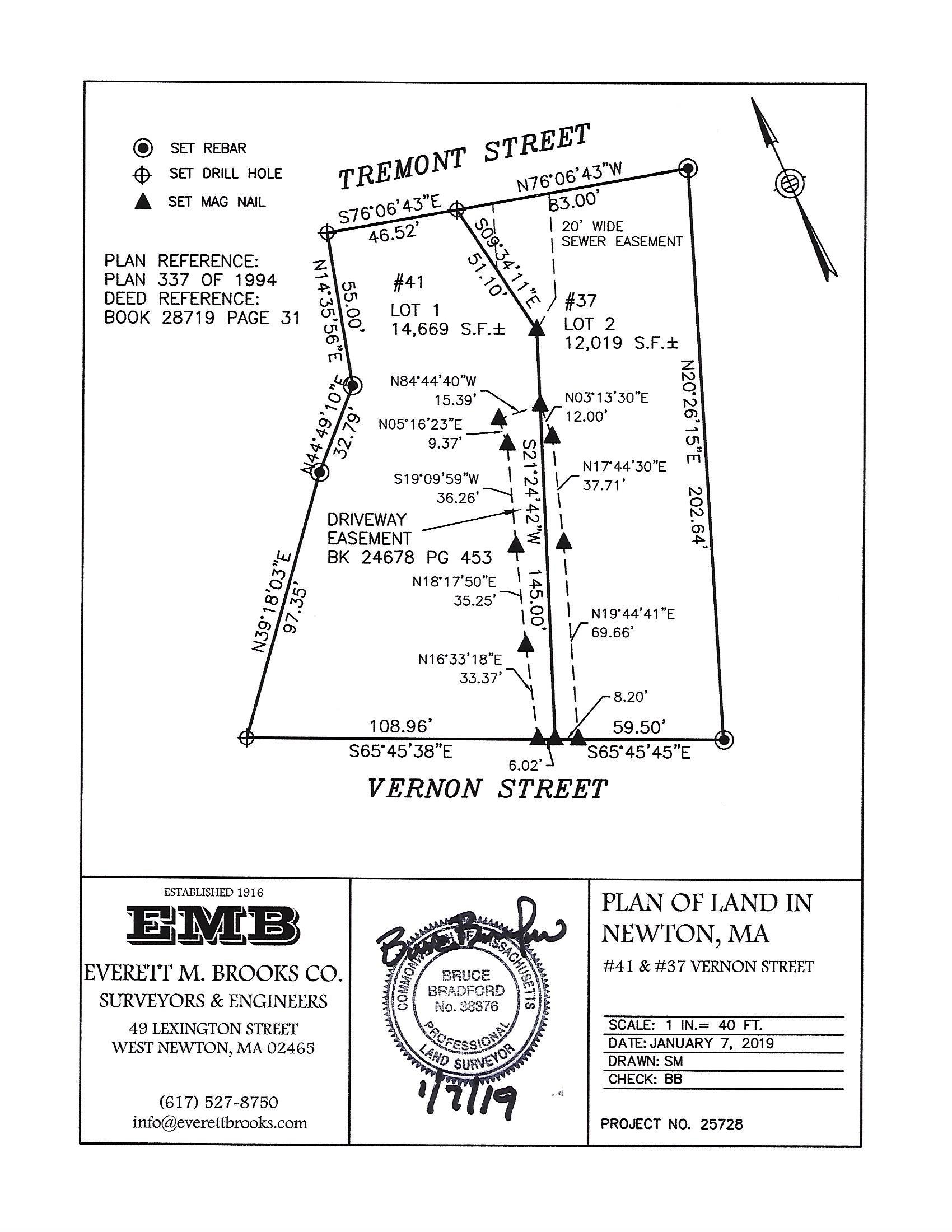 41 Vernon Street Driveway Easement